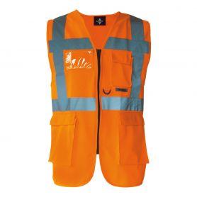 Gilet multi-fonction, de haute visibilité Orange. EN ISO 20471:2013 + A1:d'ici à 2016, la norme Oeko-Tex® Standard 100