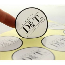 Adhesive labels in PVC tailored custom color HD