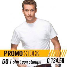Stock 50 T-Shirt White Unisex Short Sleeve Fruit Of The Loom customized with your logo
