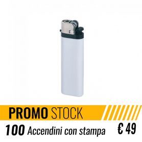 Offer Stock 100 cigarette Lighters, promotional customized with your logo € 49 + VAT