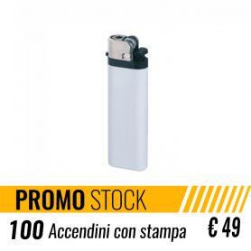 Offerta Stock 100 Accendini promozionali personalizzati con il tuo logo a € 49 + IVA