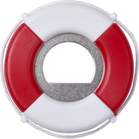 Bottle opener shape life buoy, metal, customizable with your logo