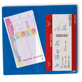 Porta Voucher, ticket, biglietto aereo in PVC, doppia tasca, personalizzabile con il tuo logo