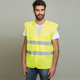 Safety vest, with profiles of high visibility, one size, customizable with your logo