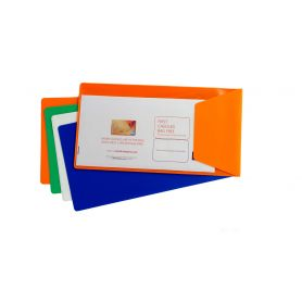 Port travel Voucher 13.3 x 25 cm with flap, customizable with your logo