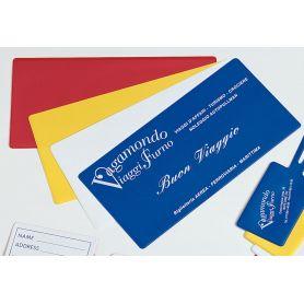 Porta Voucher da viaggio 24 x 12 cm, personalizzabile con il tuo logo