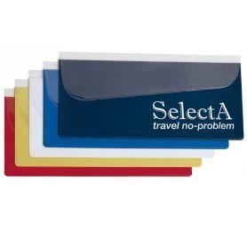 Porta Voucher da viaggio con pattina obliqua, 24,5 x 12,7 cm, personalizzabile con il tuo logo