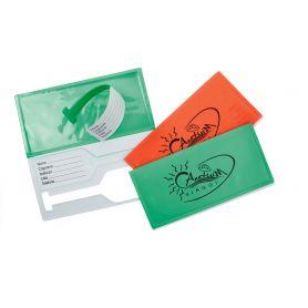 Kit porta voucher + 2 etichette porta nome baglio, personalizzabile con il tuo logo