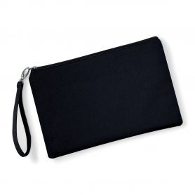 Bag Beauty case 26 x 17 cm Black with strap, customizable with your logo