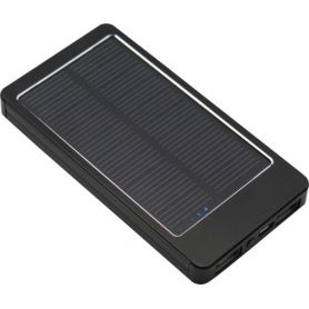 Caricabatterie solare in alluminio, con pannello solare, 3000mAh. Personalizzabile con il tuo logo