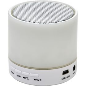 Wireless Speaker in ABS, with coloured lighting. Customizable with your logo