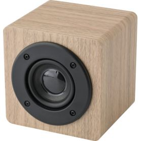 Wireless Speaker, wood, 3W. Customizable with your logo