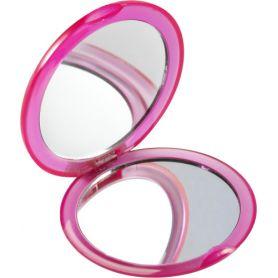 Specchietto da borsa, con secondo specchietto d'ingrandimento. Personalizzabile con il tuo logo