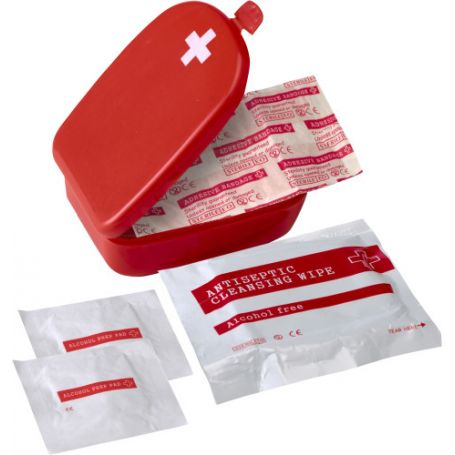 First aid Kit with plastic case mod.B. Customizable with your logo