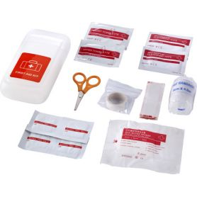 First aid Kit with transparent case mod.D. Customizable with your logo