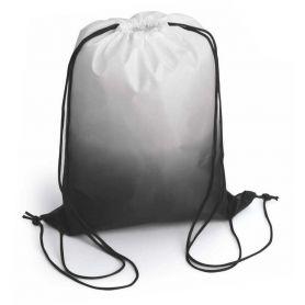 """Sacca Zaino nero """"Sfumato"""" bicolore, 33 x 42 cm, 210D. Personalizzabile con il tuo logo"""