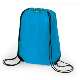 Sac à dos Sac de 34 x 44 cm, avec des lacets et coins renforcés noir, 210D. Personnalisable avec votre logo