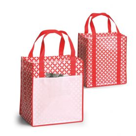 Shopping bag Shopping 33,5 x 38 x 25 cm in TNT laminate, fantasy.