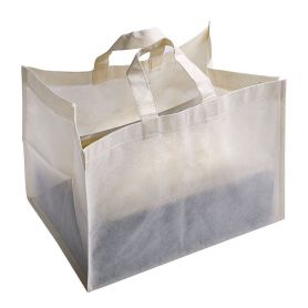 Shopping bag for Pastry 37 x 23 x 27 cm in TNT. Customizable with your logo