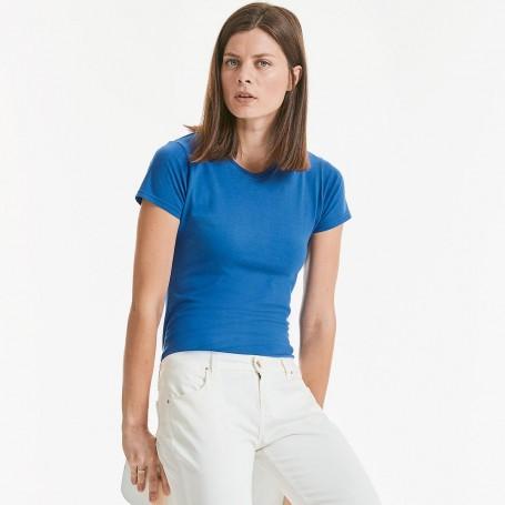 T-Shirt de Dames Slim T des Femmes à Manches Courtes Russel