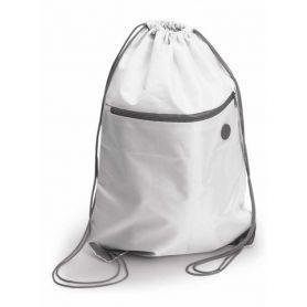 Zaino Subli a sacca 34 x 44 cm con tasca frontale. Personalizzabile con il tuo logo a colori