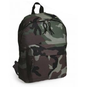 Holdall camouflage, 28 x 38 x 12 cm with front pocket. Customizable with your logo
