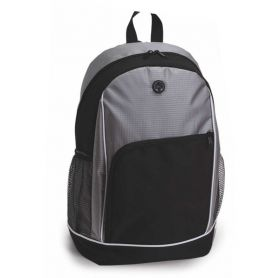 Backpack 30 x 17.5 x 44.5 cm, ribbon with headphone jack. Customizable with your logo