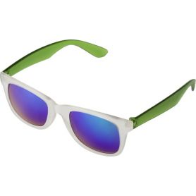 Sunglasses mirrored with colorful stems, UV protection 400. Customizable with your logo!