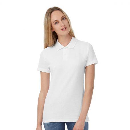 Polo Woman, ID.001, short sleeve, 100% Cotton, B&C