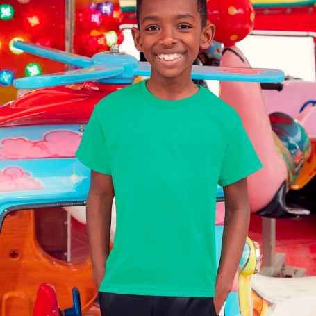 T-Shirt Kids Valueweight T boy's Short Sleeve Fruit Of The Loom