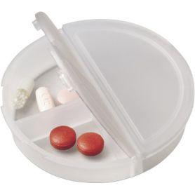 Porta Pillole, 3 scomparti, tascabile. Personalizzabile con il tuo logo