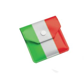 Tricolour pocket ashtray inexfeater 8 x 8 cm, customizable with your logo