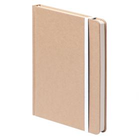 copy of Notes/Notebook 14 x 21 cm, with cover in cotton and white pages. Customizable with your logo