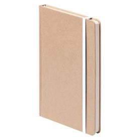 Notes/Ecological Notebook 14 x 21 cm with rubber band in color. Customizable with your logo