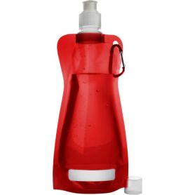 Borraccia Pieghevole in PE 420 ml con moschettone
