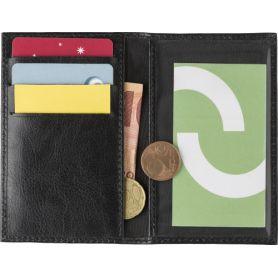 Portafoglio, porta carte di credito RFID, in pelle. Personalizzabile con il tuo logo!