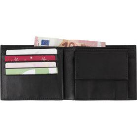 Porta foglio in pelle. Porta monete e carte di credito, anti RFID. Personalizzabile con il tuo logo!