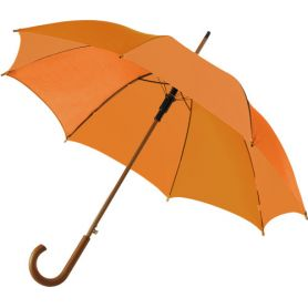 Automatic umbrella Ø 103.5 x 88.5 cm, wooden handle. Customizable with your logo!