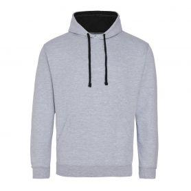 Sweat-shirt Varsity Hoodie 280 gr/m2 Gris 80/20 Unisex Just Hoods