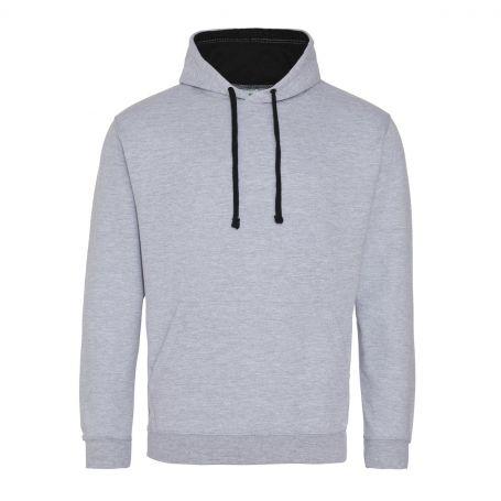 Varsity Hoodie sweatshirt 280 gr/m2 Grey 80/20 Unisex Just Hoods