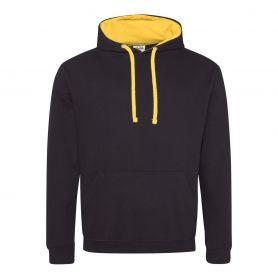 Felpa Varsity Hoodie 280 gr/m2 Black 80/20 Unisex Just Hoods