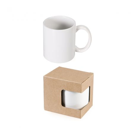 Ceramic cup 320 ml Subli Mug with box. Customizable with your logo