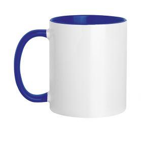 Tasse en céramique 320 ml Subli Blue Color. Personnalisable avec votre logo