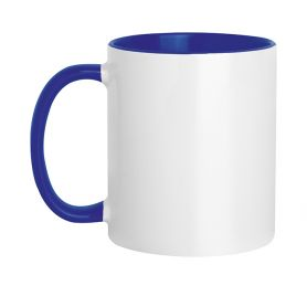 Tazza in ceramica 320 ml Subli Color Blu. Personalizzabile con il tuo logo