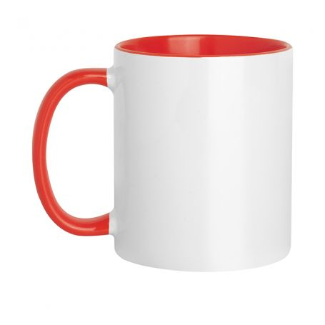 Ceramic cup 320 ml Subli Red Color. Customizable with your logo
