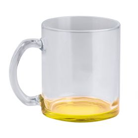 Transparent glass cup 320 ml - colored bottom