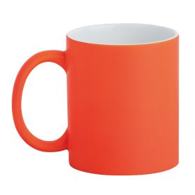 Ceramic cup 320 ml Subli Fuo Orange. Customizable with your logo