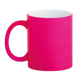 Ceramic cup 320 ml Subli Fuo Fuxia. Customizable with your logo