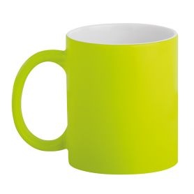 Ceramic cup 320 ml Subli Fuo Yellow. Customizable with your logo