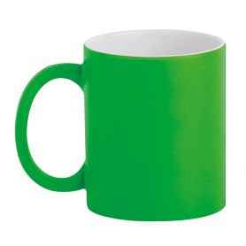 Ceramic cup 320 ml Subli Fuo Verde. Customizable with your logo